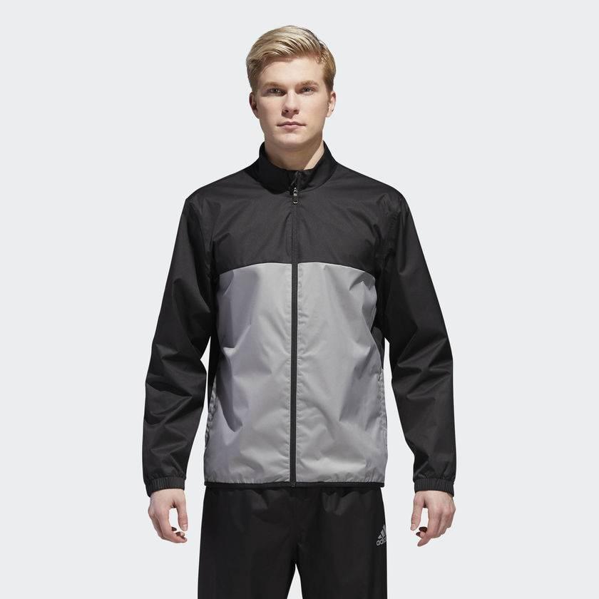 f5b88493a Adidas Mens Climastorm Provisional Jacket, Black/Grey - Gannon Sports