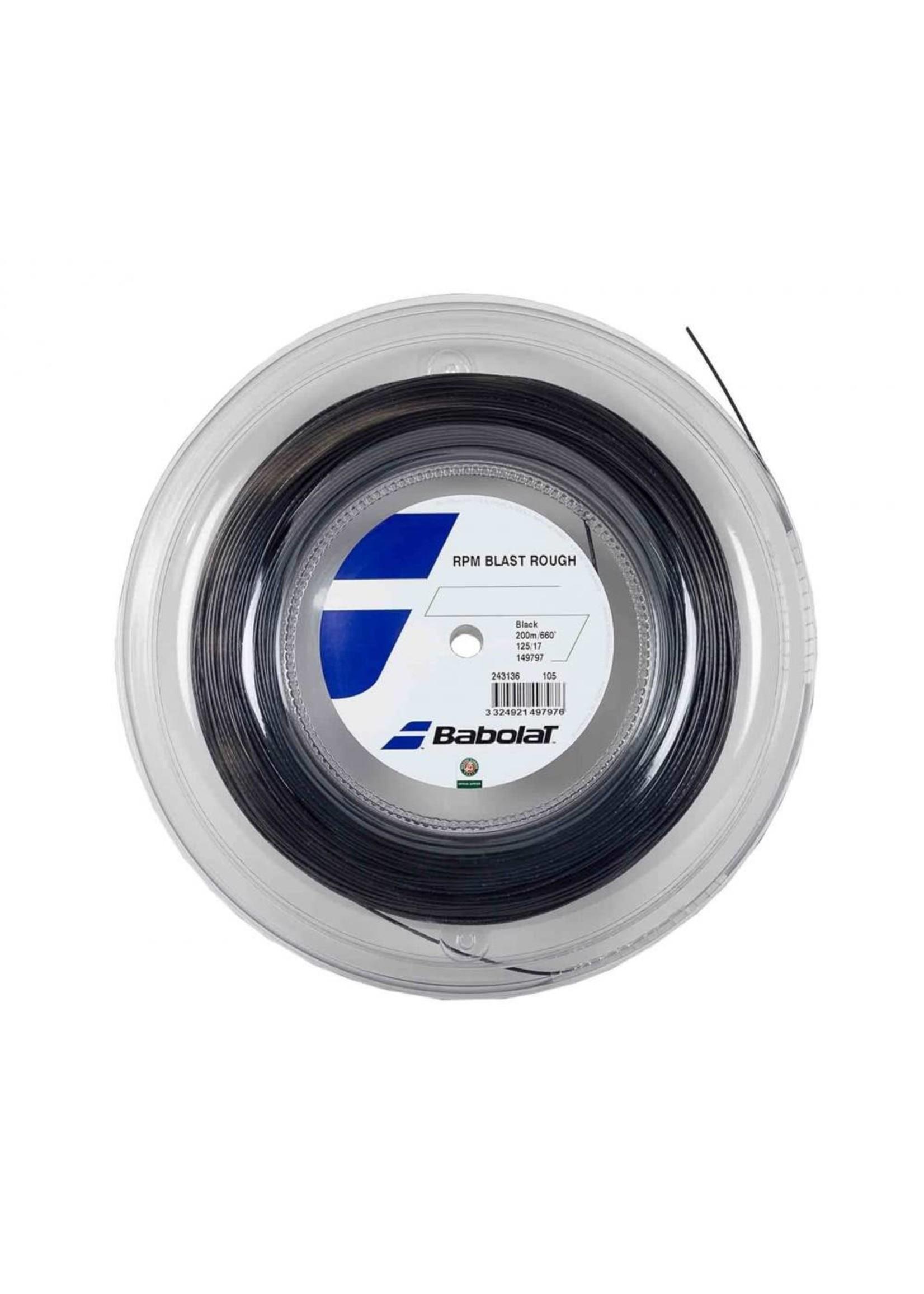 Babolat RPM Rough 125 Tennis String (Black) - 200m Reel
