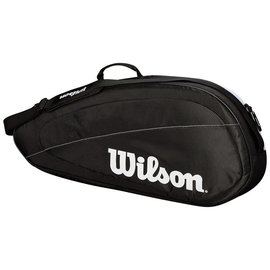 Wilson Wilson Federer Team 3 Racket Bag (2018), Black/White