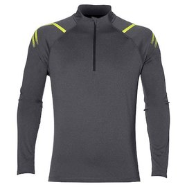 Asics Asics Mens Icon LS 1/2 Zip Top, Dark Grey/Heather