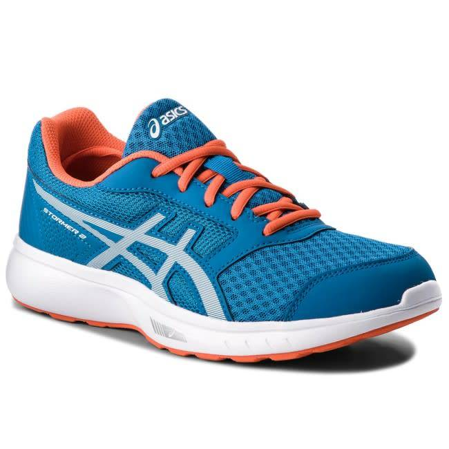 f73008293bd Asics Stormer 2 Mens Running Shoe (2018) Race Blue White - Gannon Sports