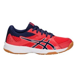 Asics Asics UpCourt 3 GS Junior Badminton Shoe, Red Alert/ Indigo Blue