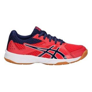 Asics Asics UpCourt 3 GS Junior Badminton Shoe, Red Alert/ Indigo Blue