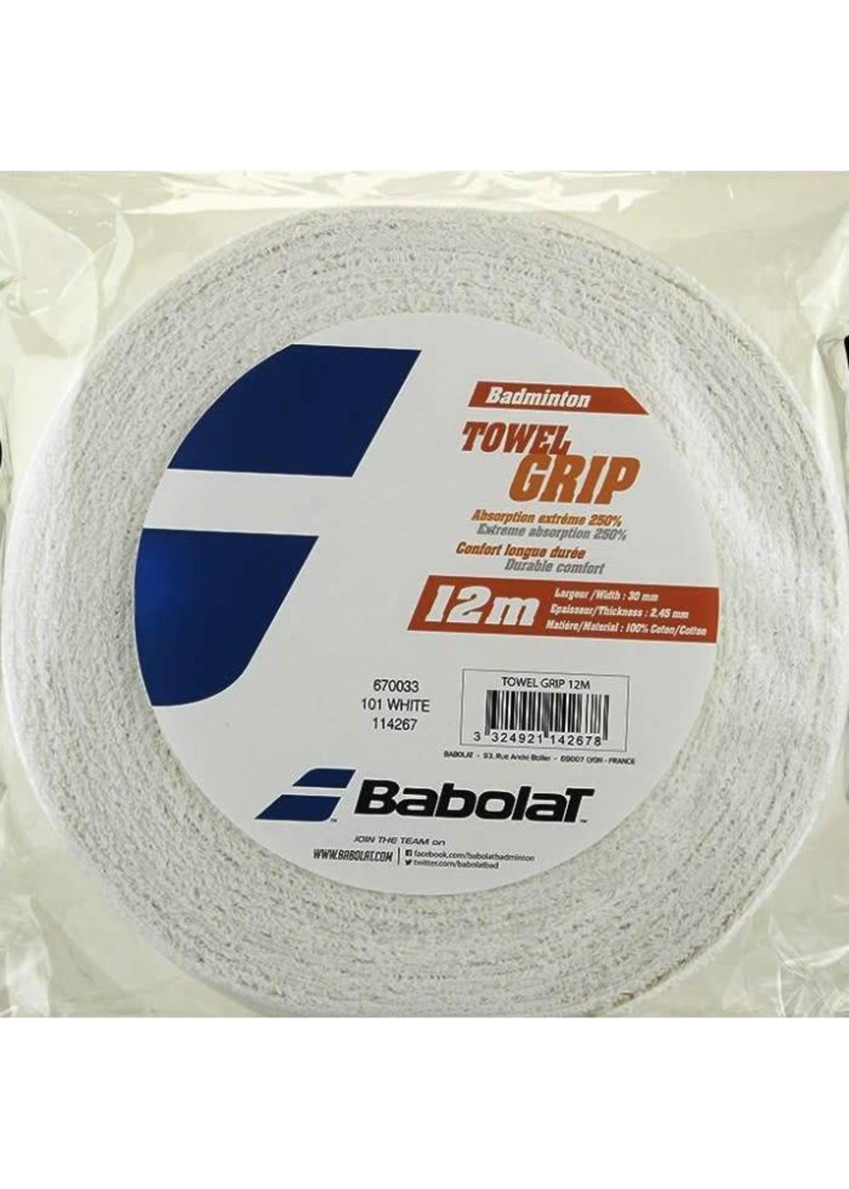 Babolat Babolat Towel Grip (12 Metre Roll) White