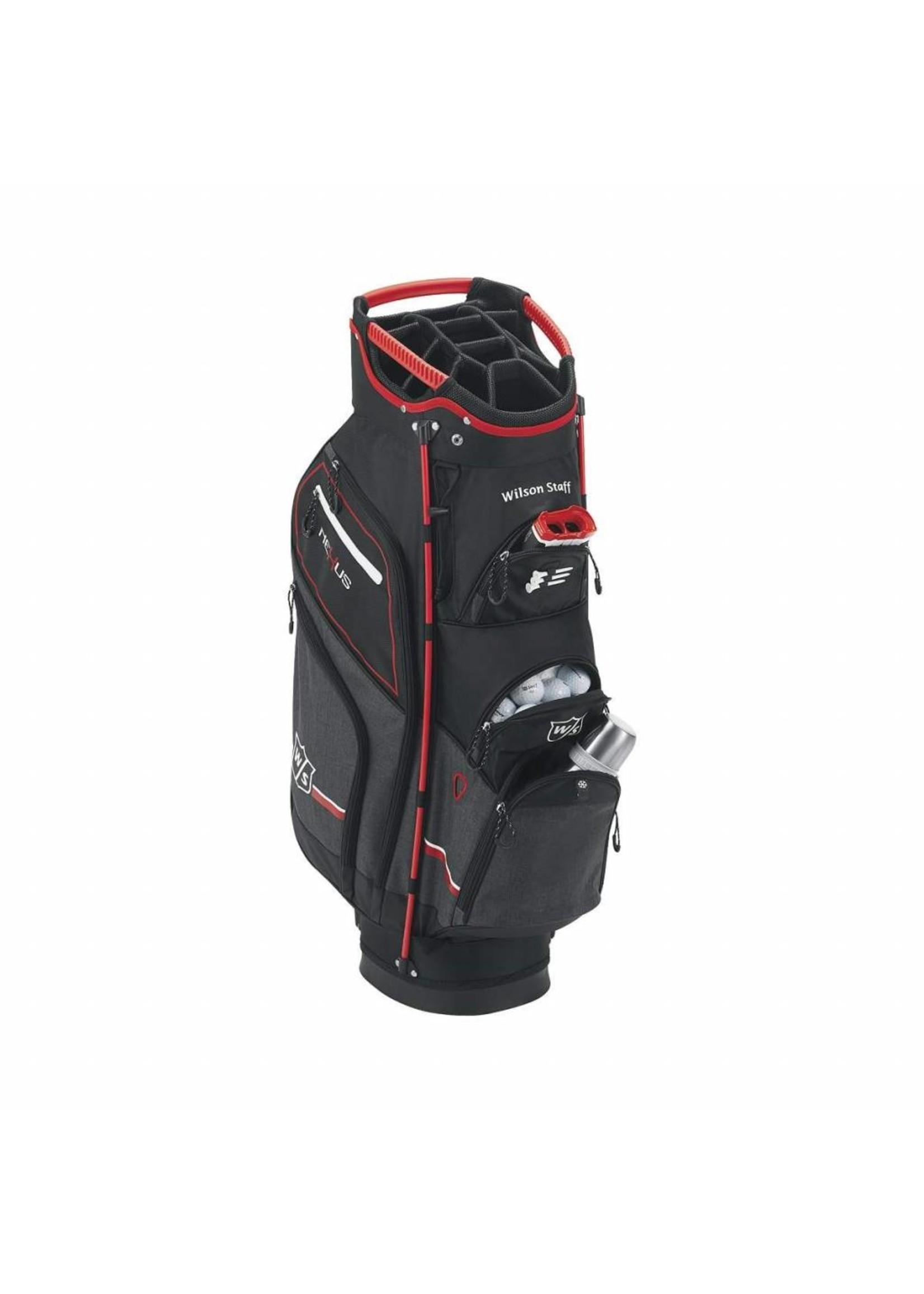 Wilson Wilson Nexus Cart Bag Black/Red/White Trolley Bag