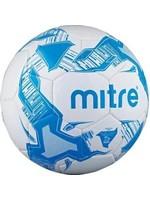 mitre Mitre Balon Size 5 Football, White/Blue