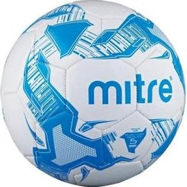 mitre Mitre Balon Size 5 Football, White/Blue