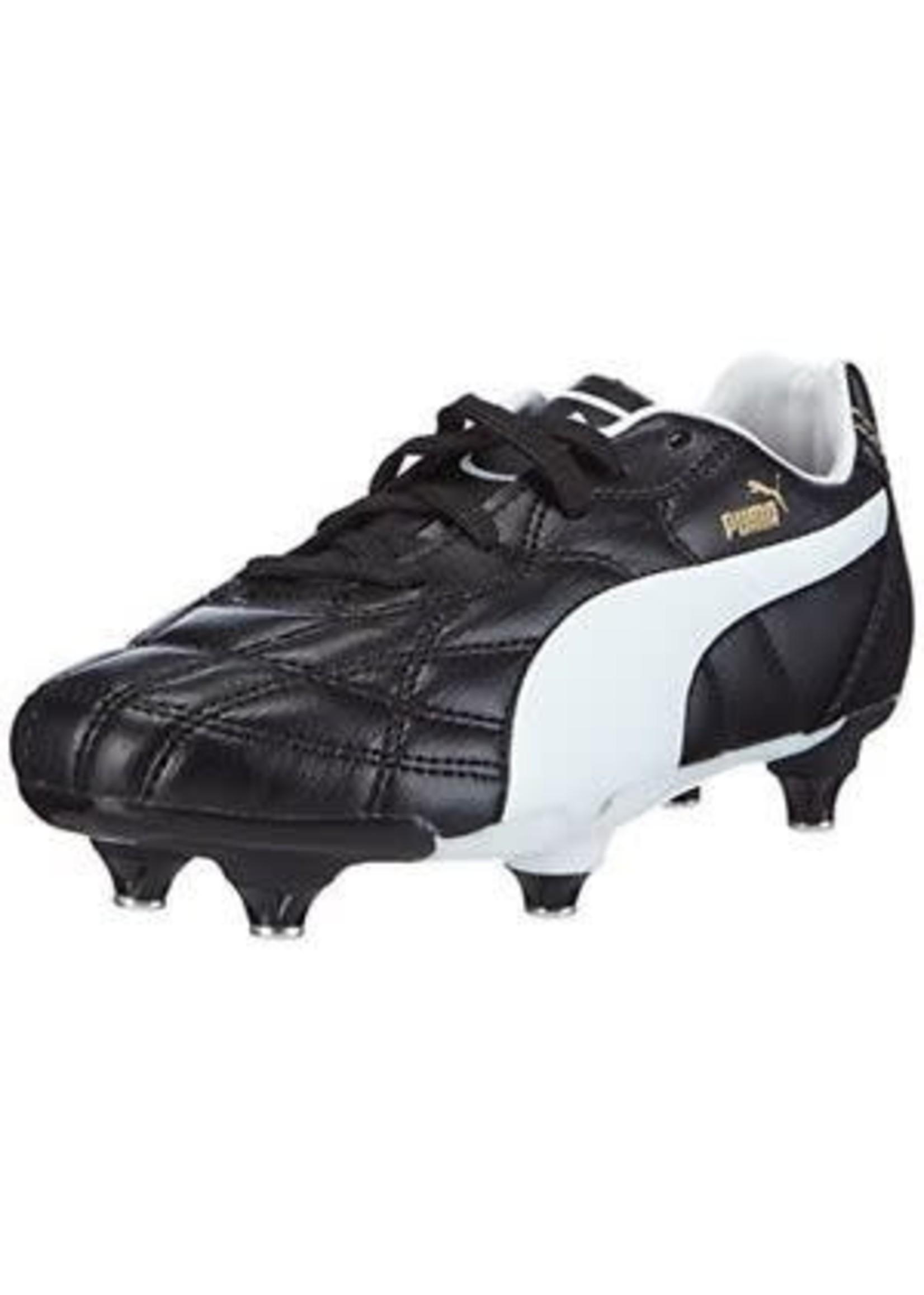 Puma Puma Classico SG Junior Boot, Black/White/ Puma Gold