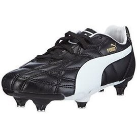 Puma Puma Classico SG Junior Boot, Black/White/ Puma Gold
