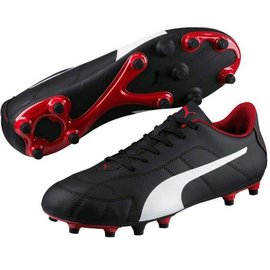 Puma Puma Classico C FG Mens Football Boot, Black/White/Red