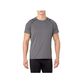 Asics Asics Mens Icon SS Running Top, Dark Grey/Performance Black