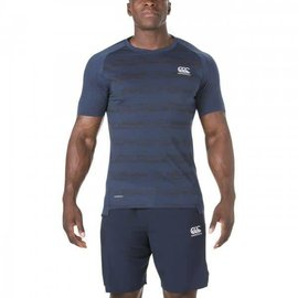 Canterbury Canterbury Mens Vapodri Performance Cotton Tee, Navy Marl
