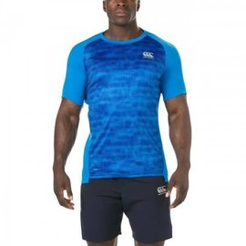 Canterbury Canterbury Mens Superlight Vapodri Graphic Tee, Brilliant Blue