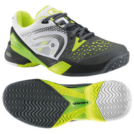 Head Head Revolt Pro Gents Tennis Shoe Grey/Neon Yellow UK 9