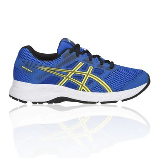 Asics Asics Gel-Contend 5 GS Junior Shoe, Illusion Blue/Lemon Spark (2019)