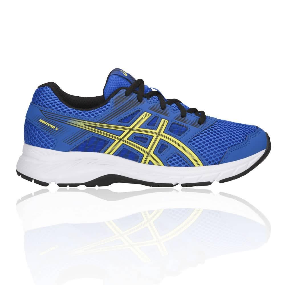new style b1060 eb999 Asics Asics Gel-Contend 5 GS Junior Shoe, Illusion Blue Lemon Spark (