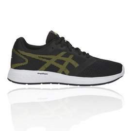 Asics Asics Patriot 10 GS Junior Running Shoes,Black/Lemon Spark (2019)