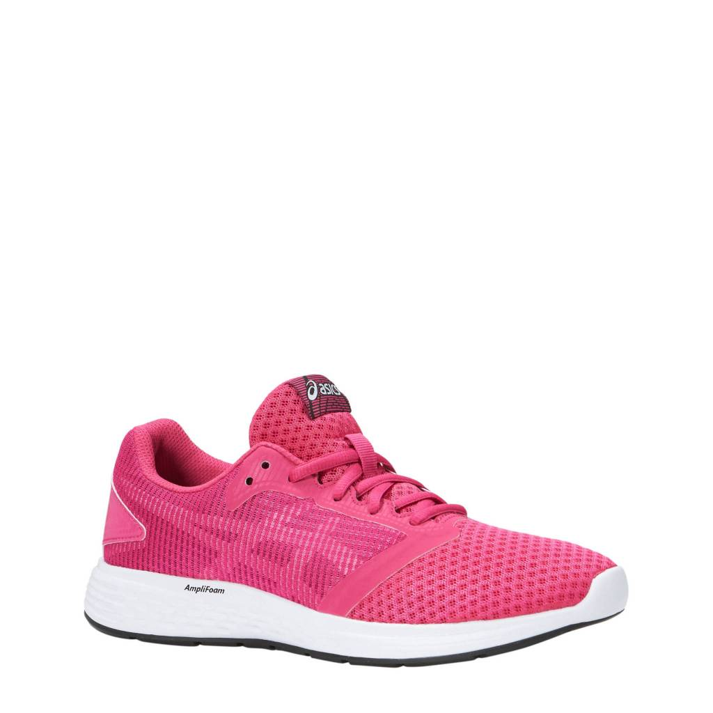 e7f322f5e0d5 Asics Patriot 10 GS Kids Running Shoe (2018) Fuchsia Purple White ...