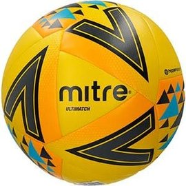 mitre Mitre Ultimatch Plus Size 5 Football, Yellow/Orange/Black