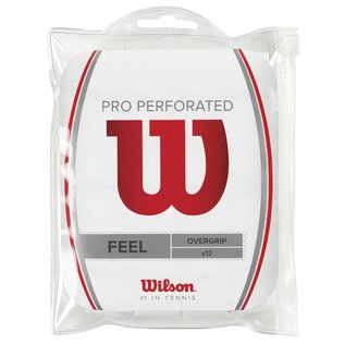 Wilson Wilson Pro Perforated Overgrip 12pk White