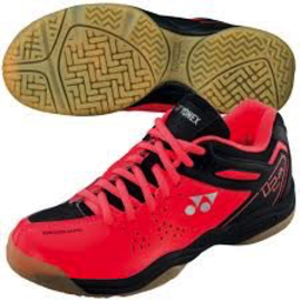 Yonex Yonex SHB02JREX Badminton Shoe Bright Red UK 1