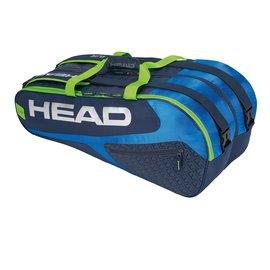 Head Head Elite Supercombi 9 Racket Bag, Blue/Green (2019)