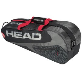 Head Head Elite Combi 6 Racket Bag, Black/Red (2019)