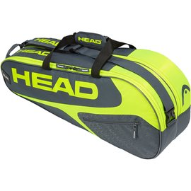 Head Head Elite Combi 6 Racket Bag, Grey/Yellow (2019)