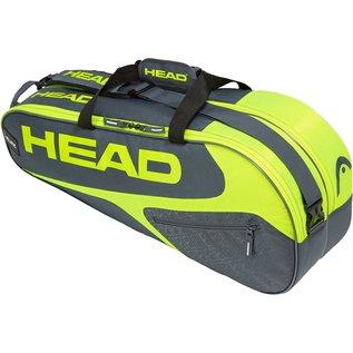 Head Head Elite Combi 6 Racket Bag, Grey/Yellow (2019)
