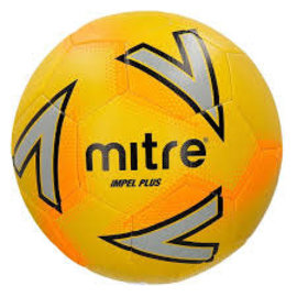 mitre Mitre Impel Plus Training Football, Yellow/Orange, Size 5