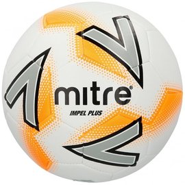 mitre Mitre Impel Plus Training Football, White/Orange, Size 5