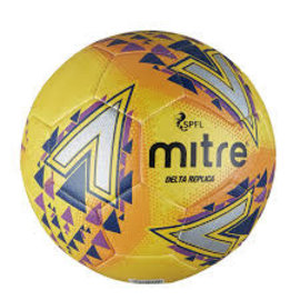 mitre Mitre Delta SPFL Replica Football, Yellow/Purple/Blue