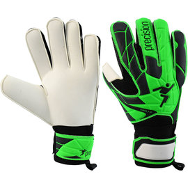 Precision Training Precision Fusion X 3D Flat Cut Finger Protect Goalie Gloves- Green