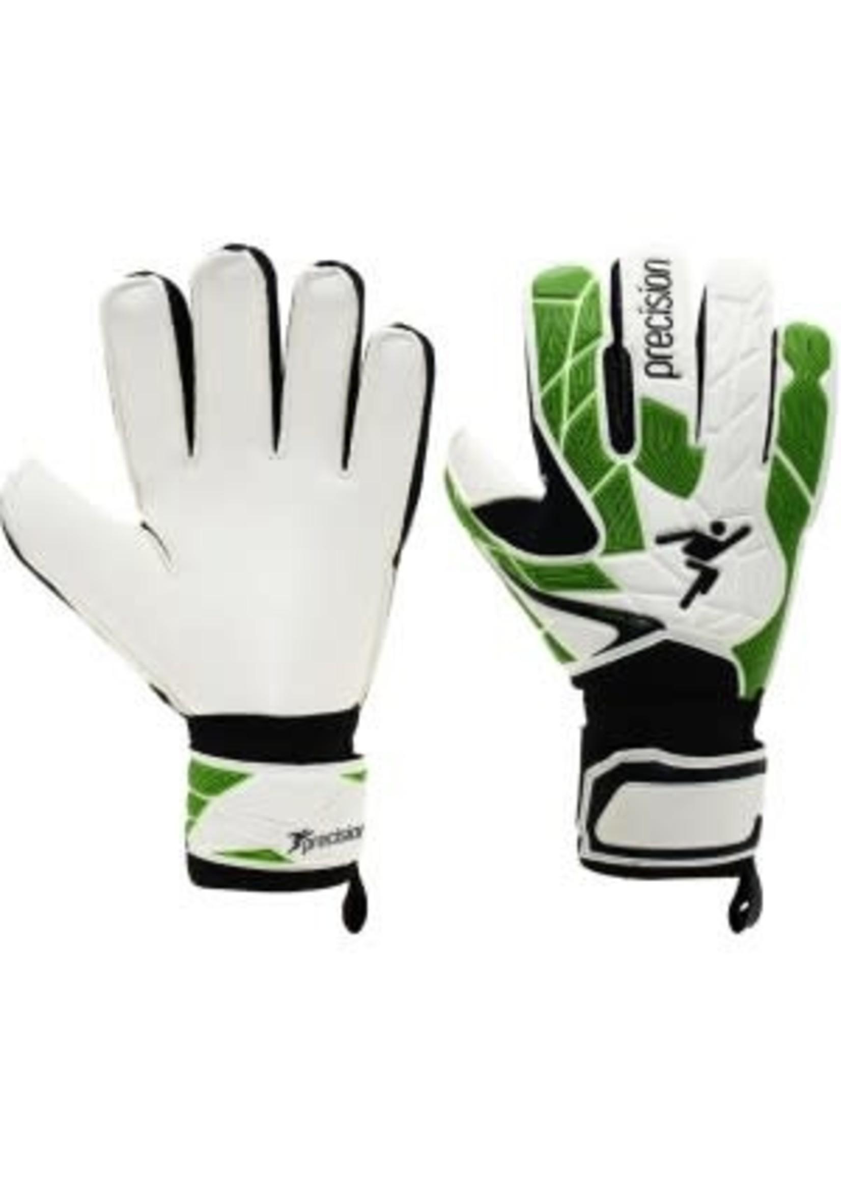 Precision Training Precision Fusion X 3D Flat Cut Basic Goalie Gloves, White