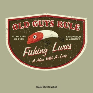 Old Guys Rule Old Guys Rule T-Shirt - Man with A-Lure