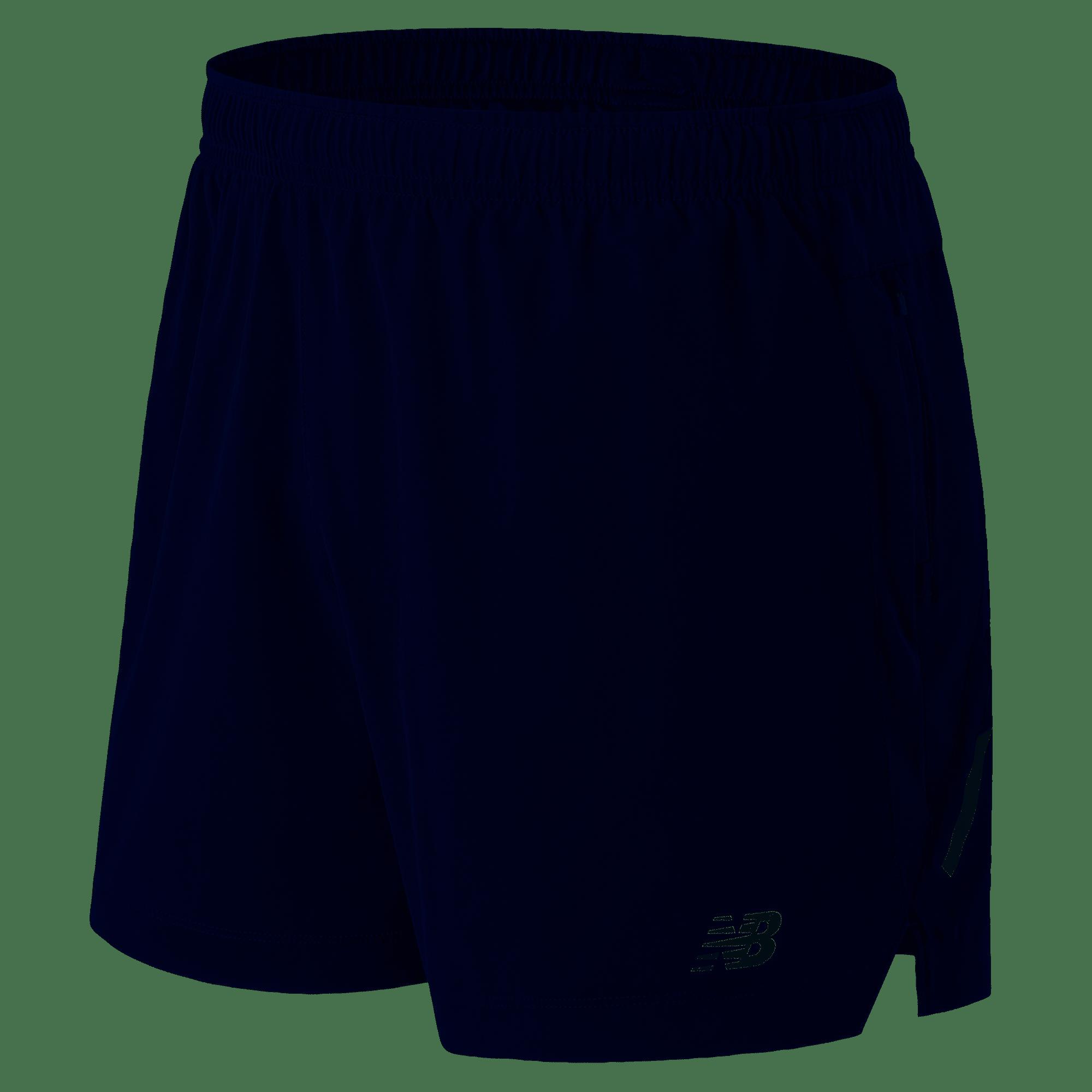 c4354fdd604d6 New Balance Mens Impact 5 Inch Shorts, Navy - Gannon Sports