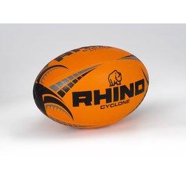 Rhino Cyclone Size 4 Rugby Ball Fluro Orange