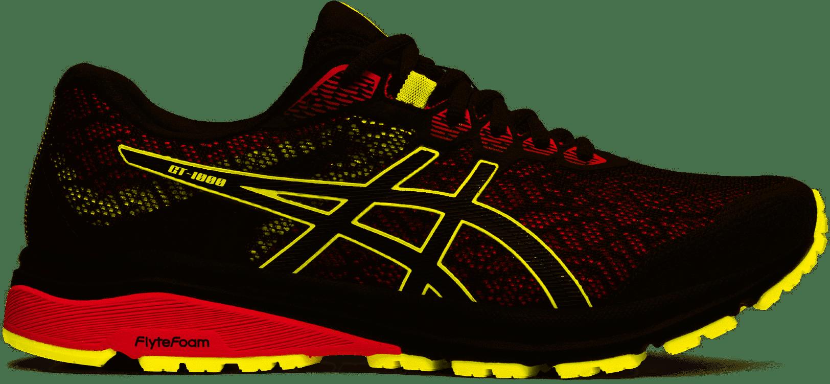 Asics GT 1000 8 GTX Mens Running Shoe, Graphite Grey/ Sour Yuzu