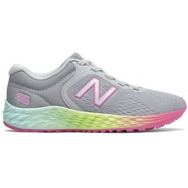 new balance New Balance Arishi V2 Junior Running Shoe - Grey/Pink/Lime