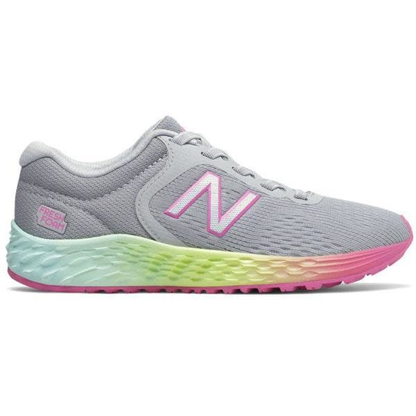 détaillant bcd6f 951c5 New Balance Arishi V2 Junior Running Shoe - Grey/Pink/Lime