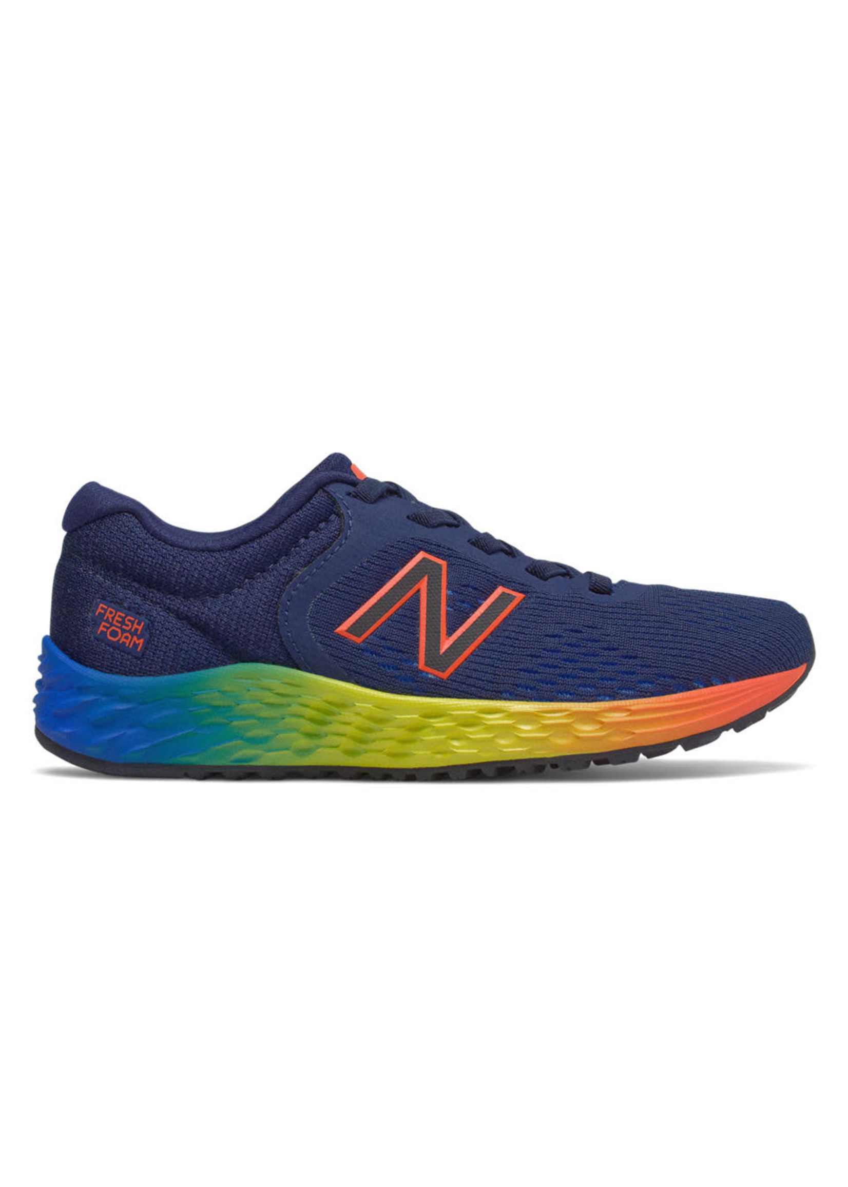 new balance New Balance Arishi V2 Junior Running Shoe - Navy/Yellow/Orange