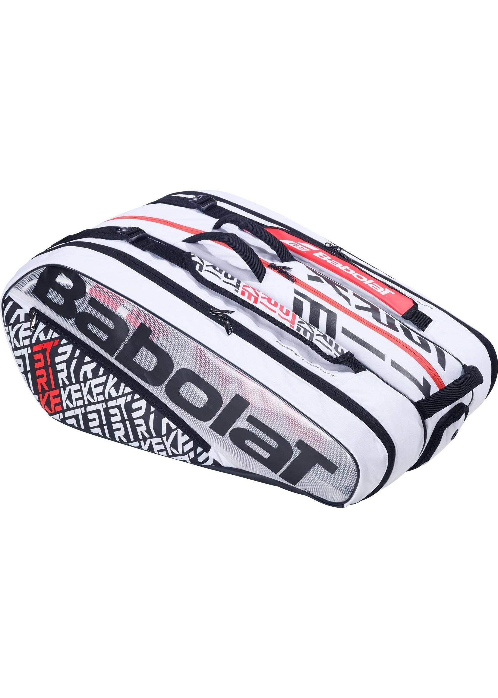 Babolat Babolat Pure Strike 12 Racket Bag, White/Red (2019)