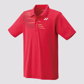 Yonex Yonex 12133EX Mens Polo Shirt Red/Gold L