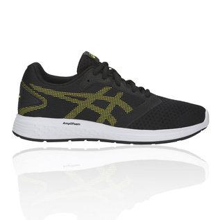 Asics Asics Patriot 10 GS Junior Running Shoes,Black/Lemon Spark (2019)