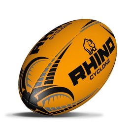 Rhino Cyclone Size 3 Rugby Ball Fluo Orange