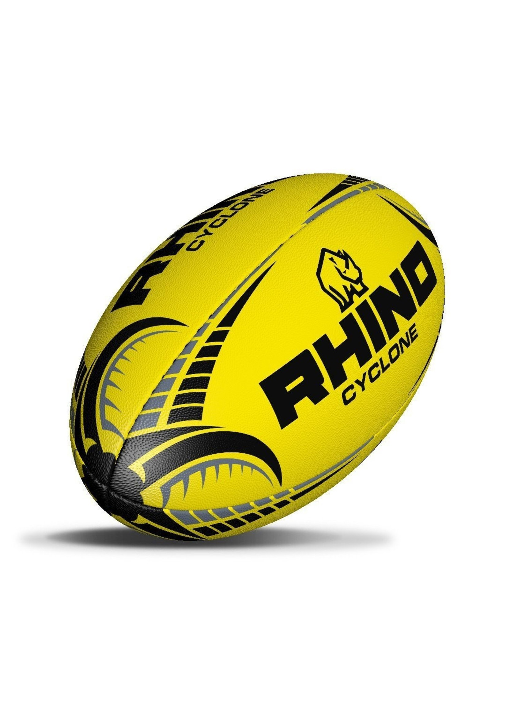 Rhino Cyclone Size 4 Rugby Ball Fluo Yellow