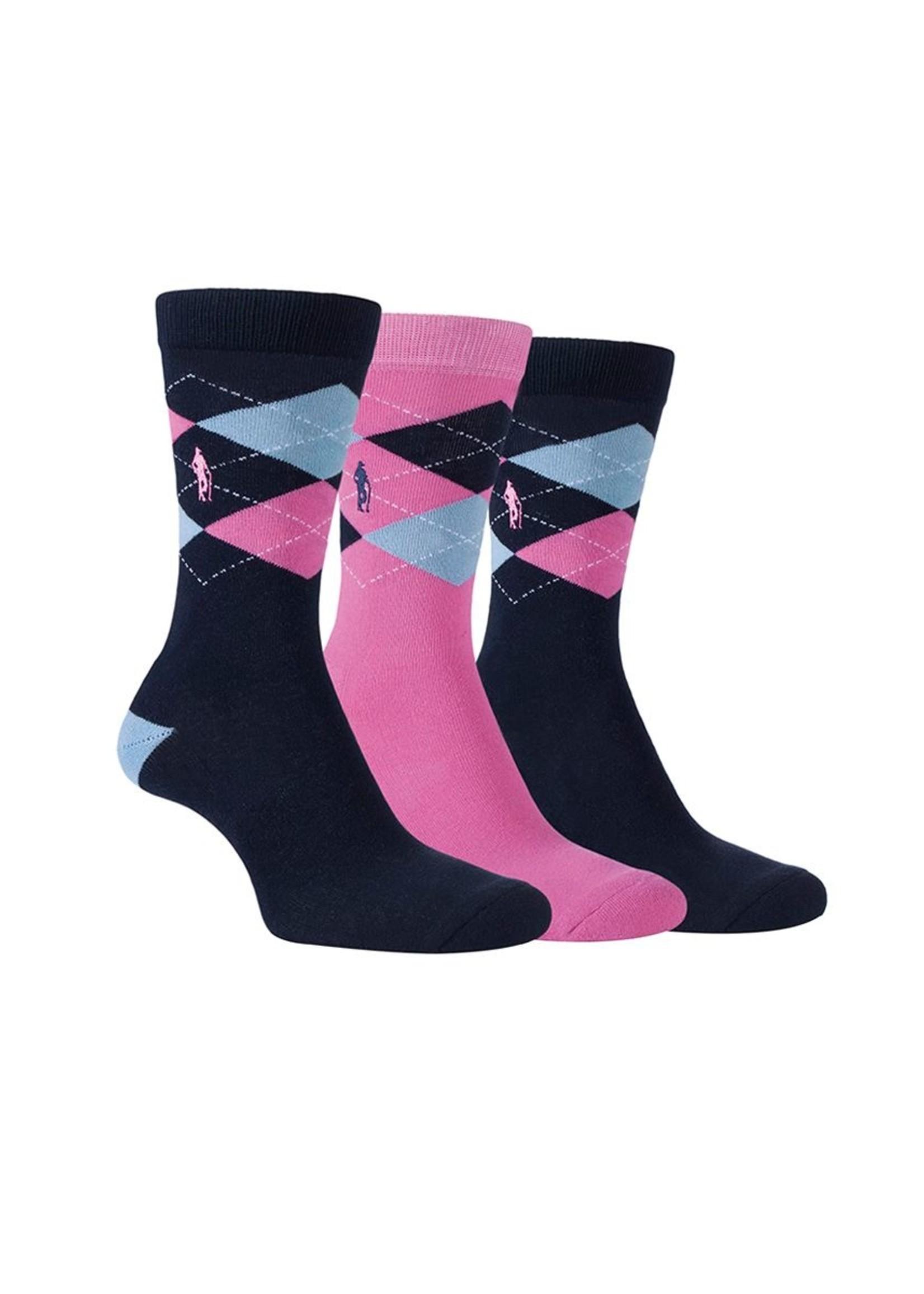 Glenmuir Glenmuir Alice Argyle Jacquard Cotton Socks Gift Box (2019)