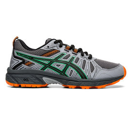 Asics Asics Gel-Venture 7 GS Junior Trail Running Shoe, Carrier Grey/Cilantro