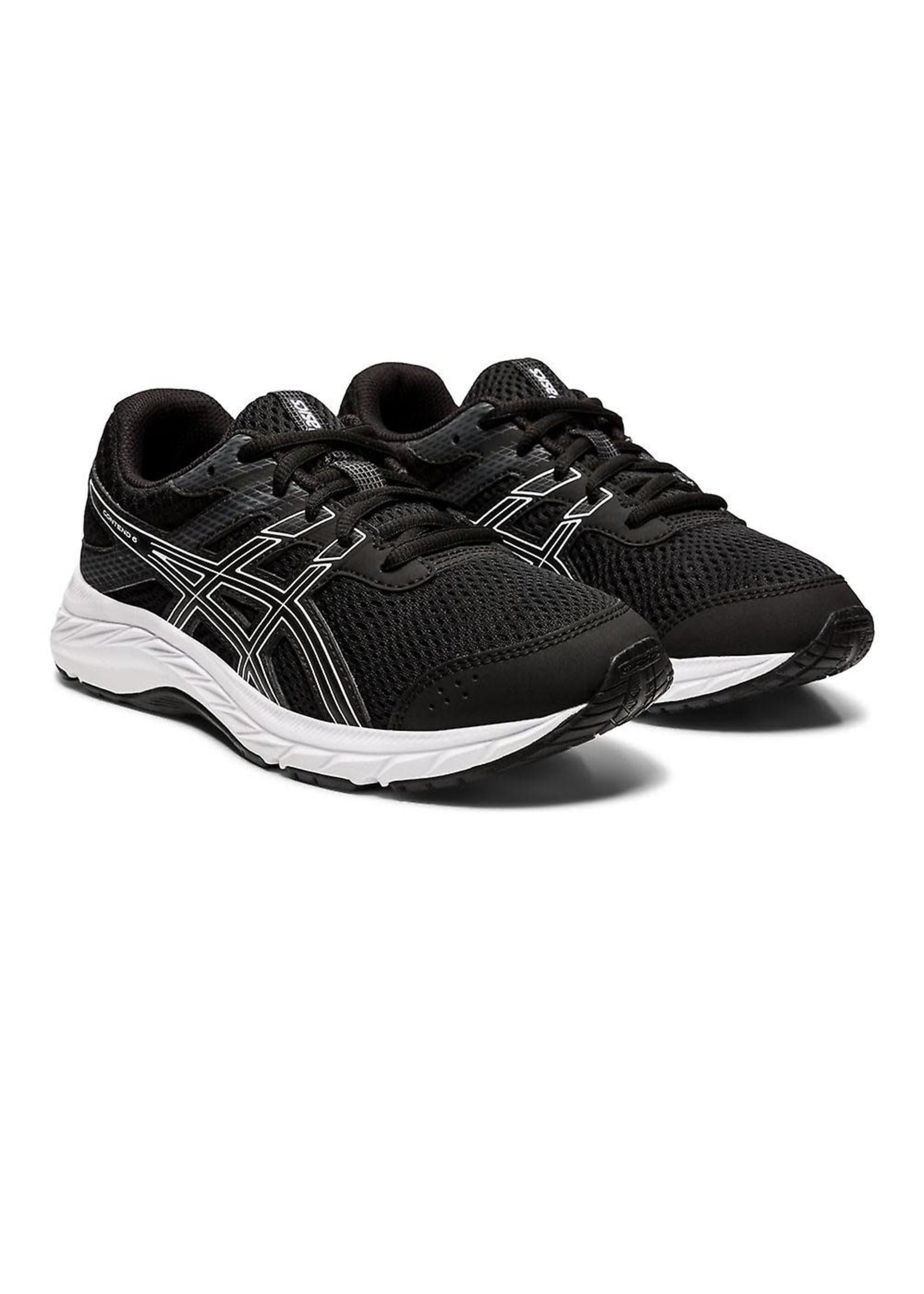 Asics Asics Contend 6 GS Junior Running Shoe, Black/White