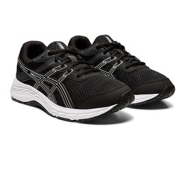 Asics Asics Contend 6 GS Junior Running Shoe, Black/White